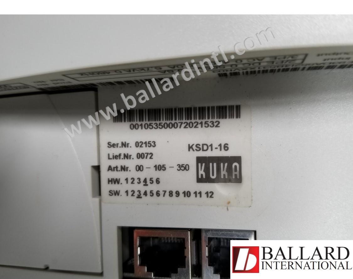 kuka ksd1-16 servo drive 00-105-350 – ballard international