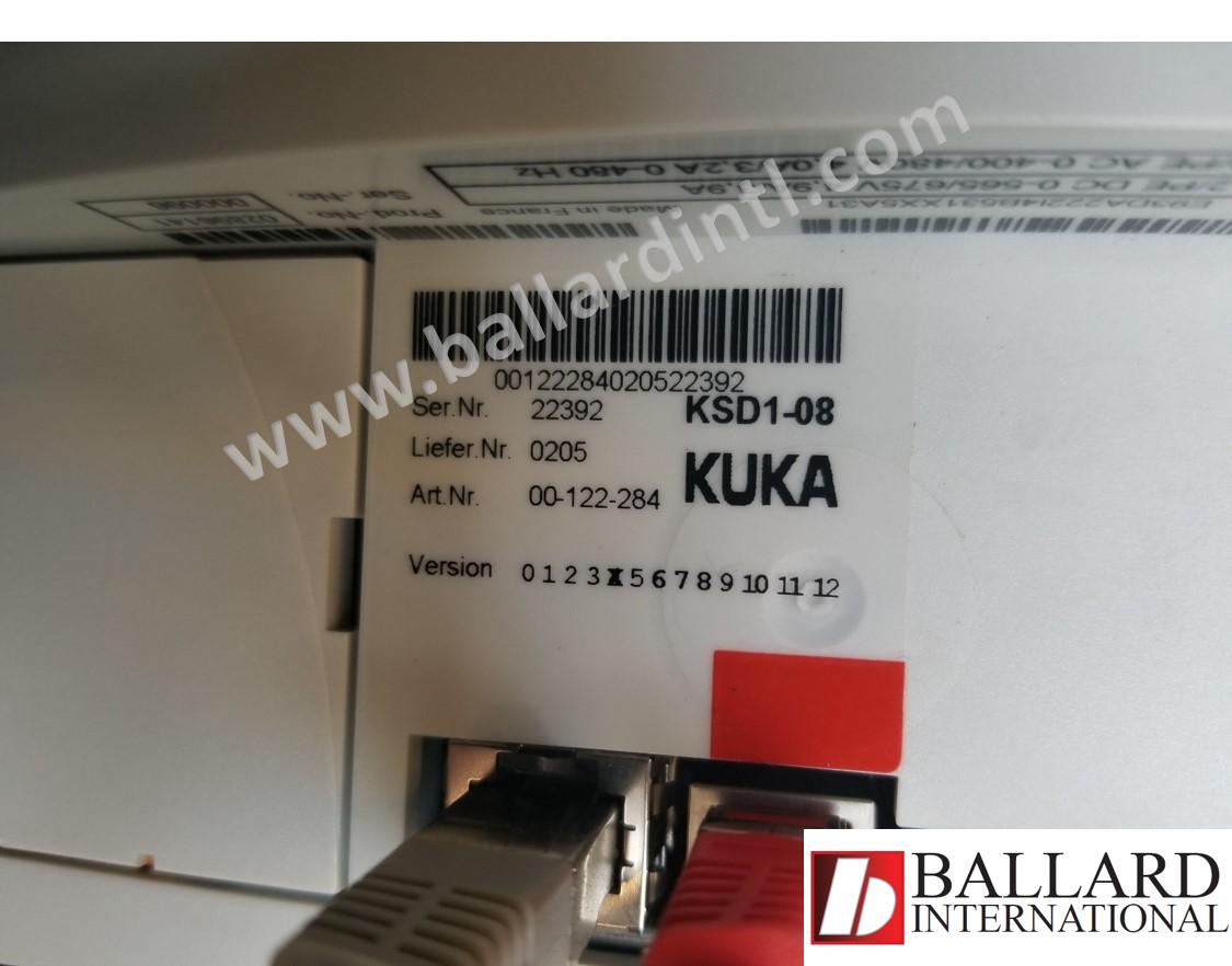 kuka ksd1-08 servo drive 00-122-284 – ballard international