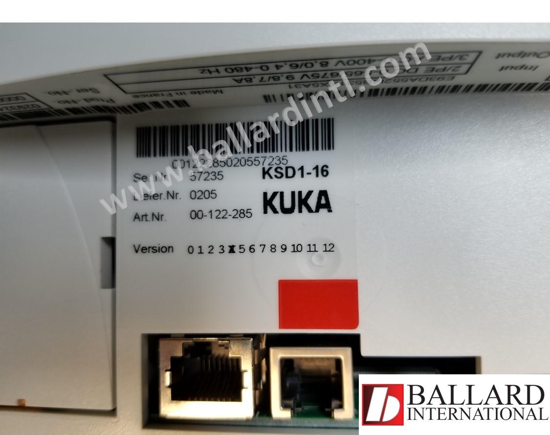 kuka ksd1-16 servo drive 00-122-285 – ballard international